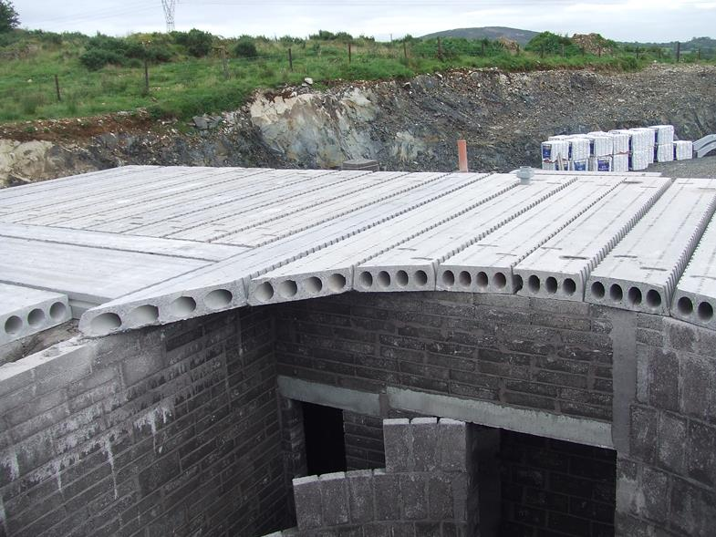 Pre Stressed Concrete Slabs Residential : Reinforced hollowcore flooring concrete floors