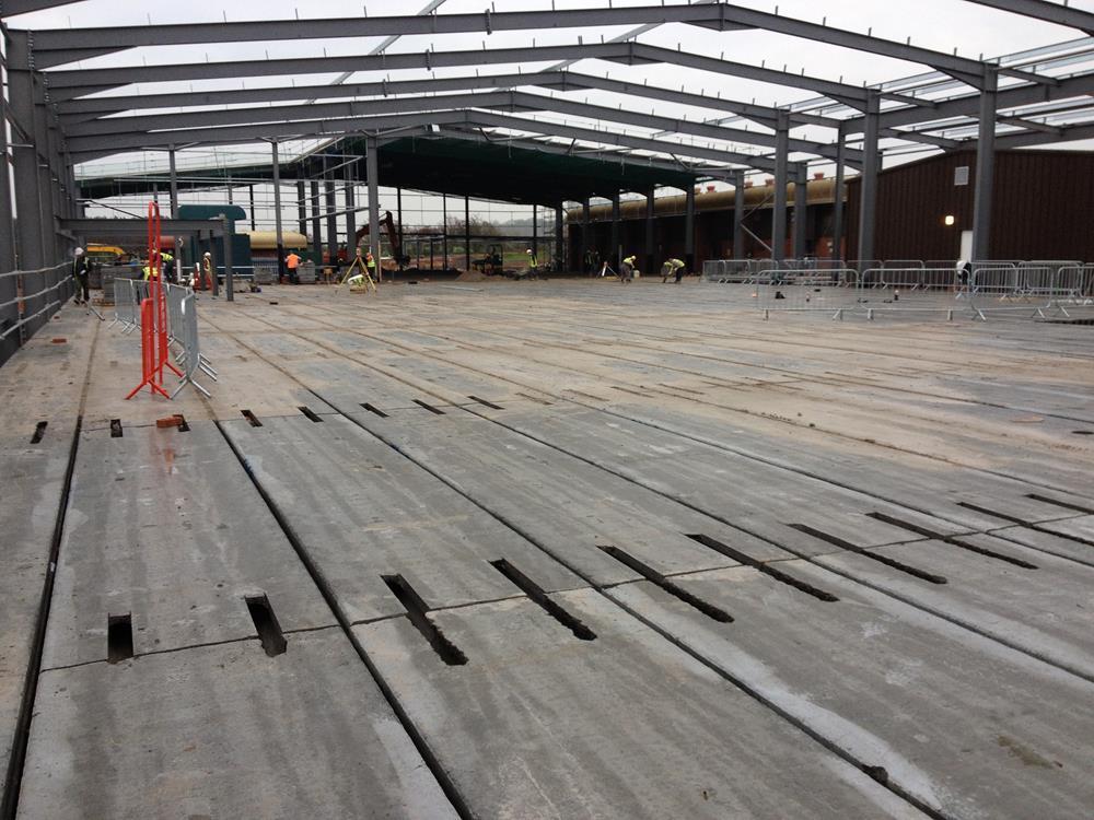 Precast Concrete Slabs : Prestressed concrete flooring precast floors