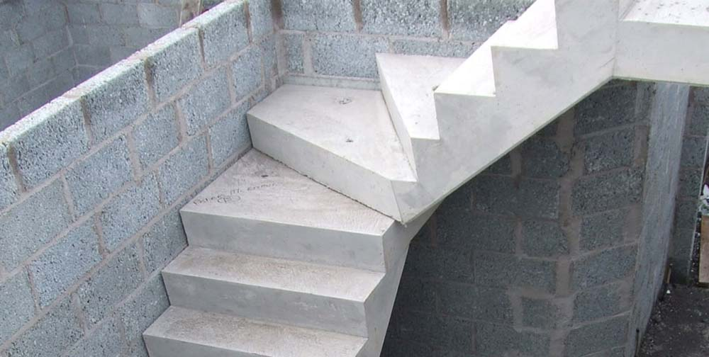 Residential Precast Concrete Slabs : Concrete stairs precast stair units landing slab