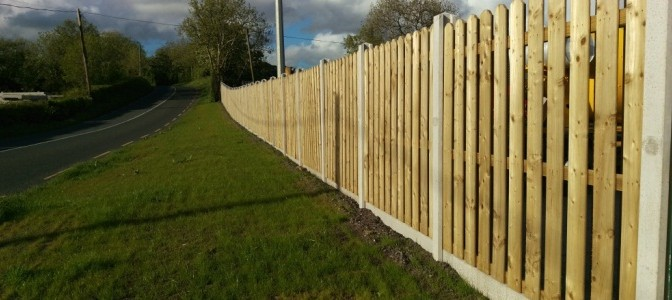 Concrete Fencing Post & Panel