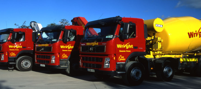 Wright Quarry Products delivery lorries