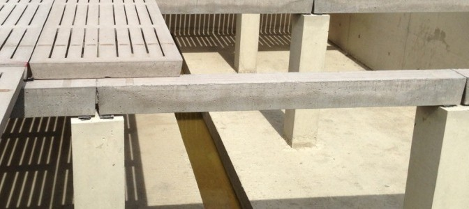 Concrete Beams under Slats